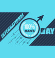 banner mens day vector image vector image