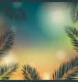banner summer time with palm trees