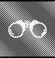 binocular sign icon hole in vector image