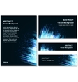 Blue Modern Business Card Set vector image