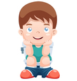 Boy in toilet vector image vector image