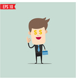 Business man and money vector image vector image
