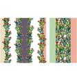 cactus hand drawn seamless pattern creative vector image vector image