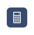 calculator icon flat design style vector image vector image