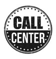 call center grunge rubber stamp vector image