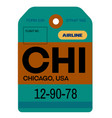 chicago airport luggage tag