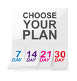 choose your plan sign vector image