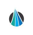 circle arrow business logo vector image vector image