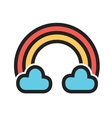 Cloudy with Rainbow vector image vector image