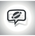 Curved rugby message icon vector image vector image
