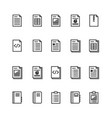 document and notebook outline icon isolated vector image
