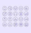 electronics technology store line icon vector image vector image