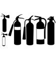 fire extinguishers vector image vector image