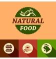 flat natural food emblems vector image vector image