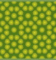 flower seamless pattern bright green colors vector image vector image
