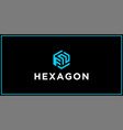 fn hexagon logo design inspiration vector image vector image