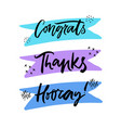 greeting hand drawn lettering set vector image