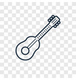 guitar toy concept linear icon isolated on vector image vector image