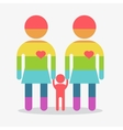 happy gay girl family rainbow icon vector image vector image