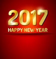 Happy New Year 2017 greetings card vector image vector image