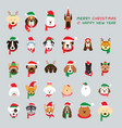 head dogs wearing christmas costume vector image vector image