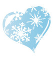 ice heart vector image vector image