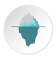 Iceberg icon flat style vector image vector image