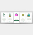 islam religion arab onboarding icons set vector image vector image