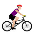 isolated person riding a bike icon vector image