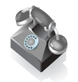Isometric icon of vintage phone vector image