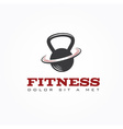 kettlebell design template vector image vector image