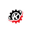 letter k gear logo design template vector image vector image