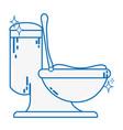 line ceramic toilet hygiene domestic vector image