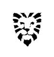 lion head logo vector image vector image
