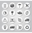 Logistics icons set vector image vector image
