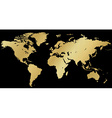 map of the world made of corrugated gold on a vector image vector image