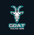 modern esports logo goat logo vector image