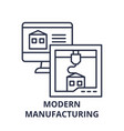 modern manufacturing line icon concept modern vector image vector image