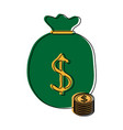 money bag icon image vector image vector image