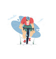 mountain bike cycling in forest vector image