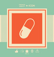 pill icon symbol vector image