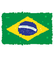 pixelated flag of brazil vector image vector image