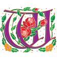 rosette letter W vector image