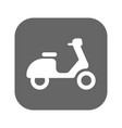 scooter icon isolated on background modern flat vector image