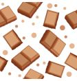 seamless pattern with choco pieces vector image