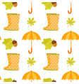 seamless pattern with polka dot rubber boots vector image