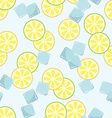 Seamless pattern with slice of lime vector image
