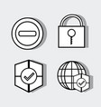 set technology elements with security icons vector image vector image