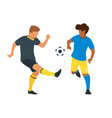 soccer game players vector image