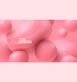 soft pink spheres bubble gum smooth shapes vector image vector image